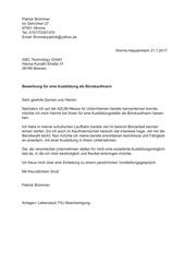 bewerbung b rokaufmann