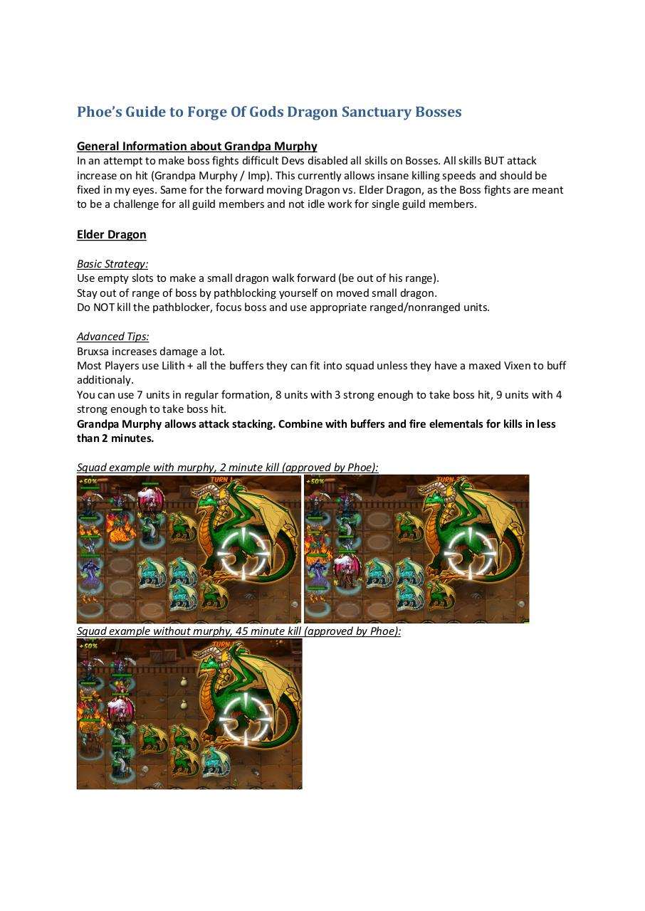 Phoe's Guide to Forge Of Gods Dragon Sanctuary Bosses.pdf - page 1/2