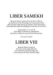 7 liber samekh