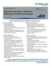 business acumen registration form