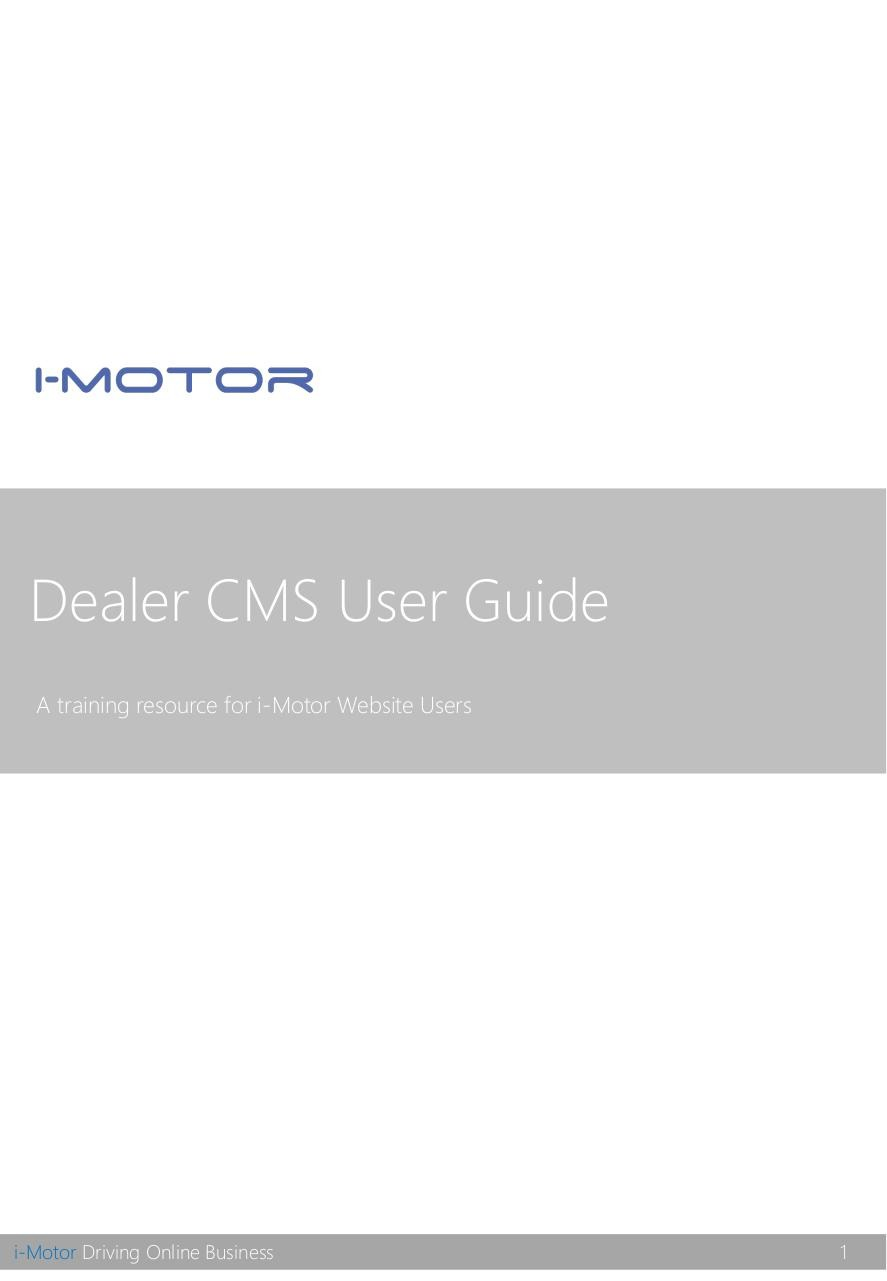 Document preview Dealer CMS User Guide_2016.pdf - page 1/5