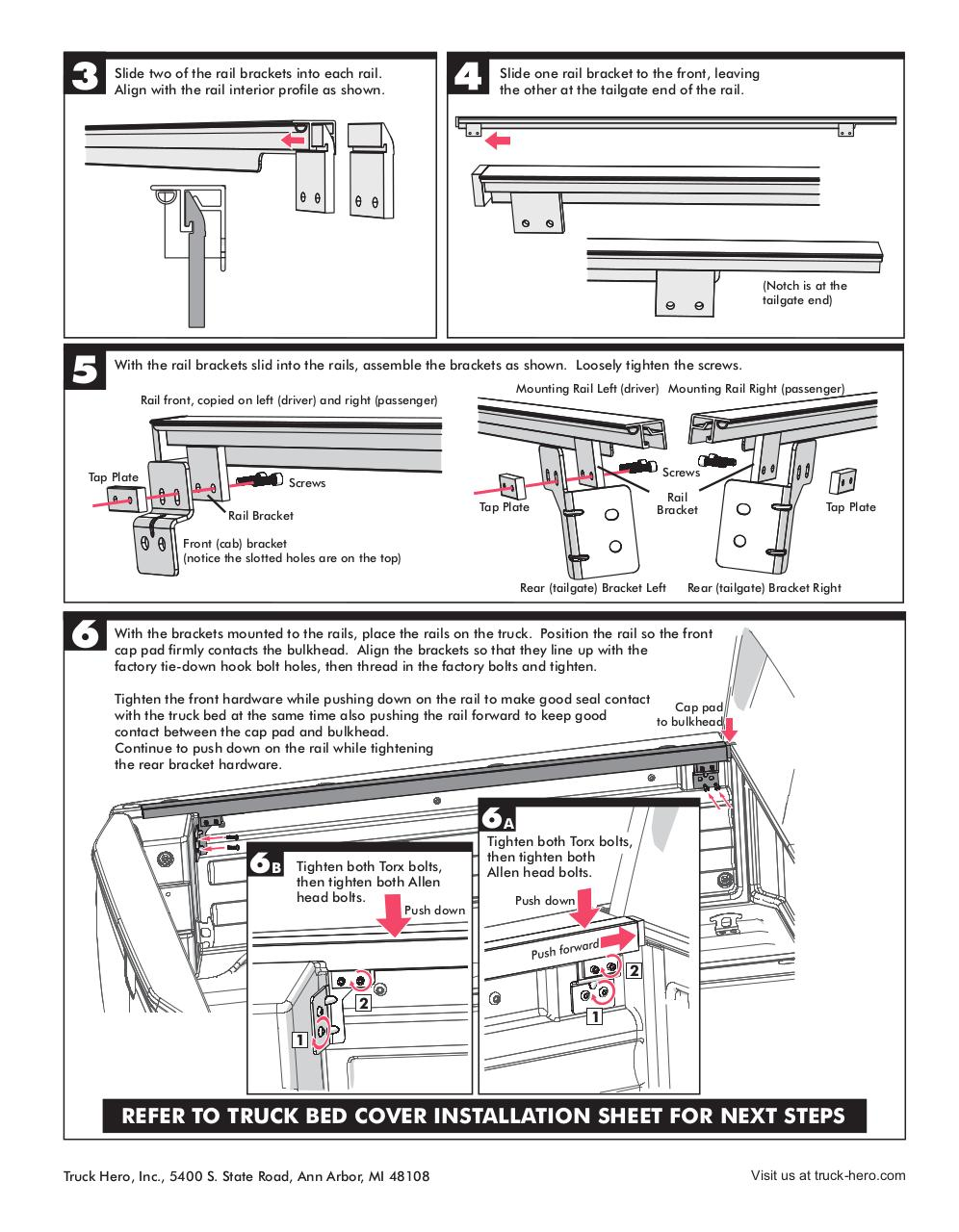 Document preview Honda Ridgeline 2017 Accessory Rails Install.pdf - page 2/2