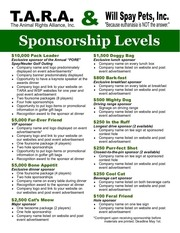 PDF Document sponsorship levels