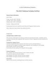 PDF Document general event information