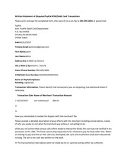 PDF Document written statement of disputed paypal atm