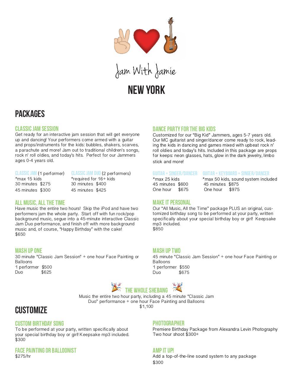 Document Preview JWJ NYC PRICE LIST 1pdf