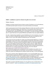 PDF Document candidature