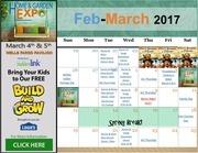 feb march 2017 calendar