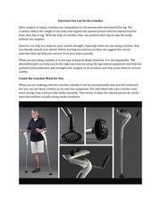 postedexercises you can do on crutches