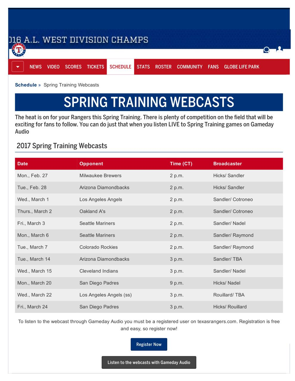 Document preview 2017RangersBroadcastSchedule.pdf - page 2/2