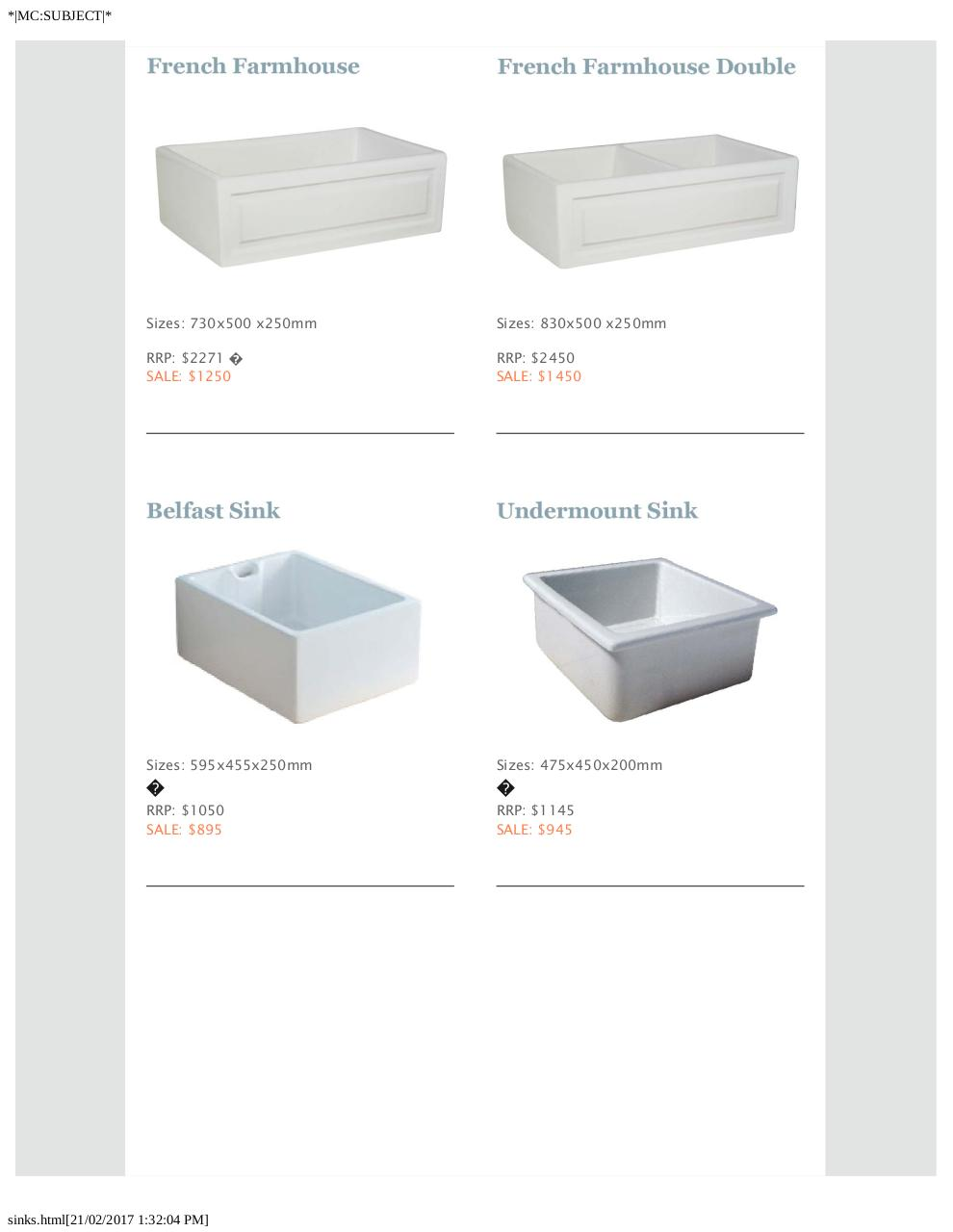 Preview of PDF document fireclay-sinks.pdf