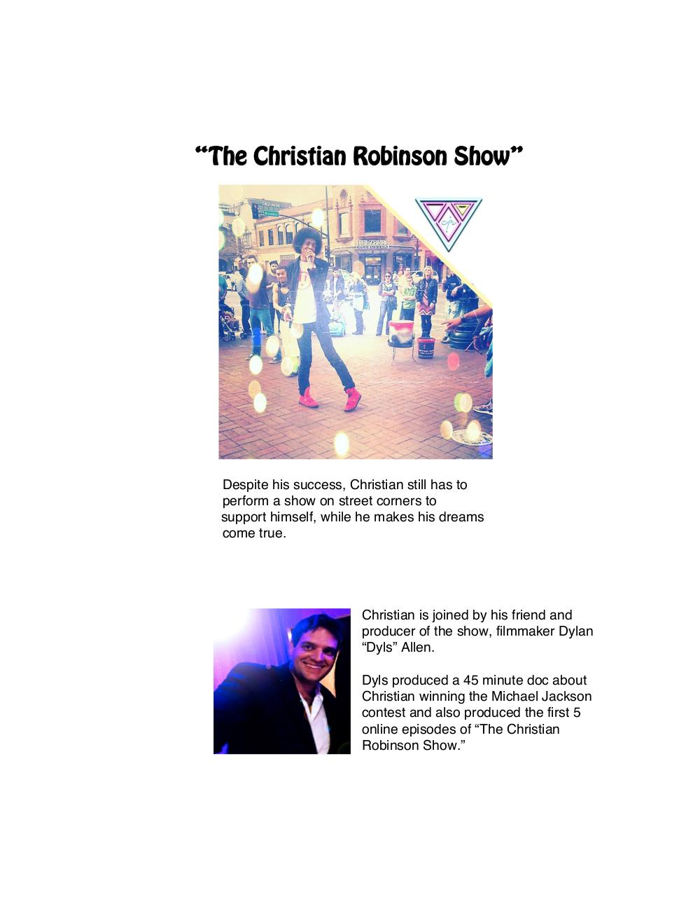 The Christian Robinson Show - One Sheet .pdf - page 2/7