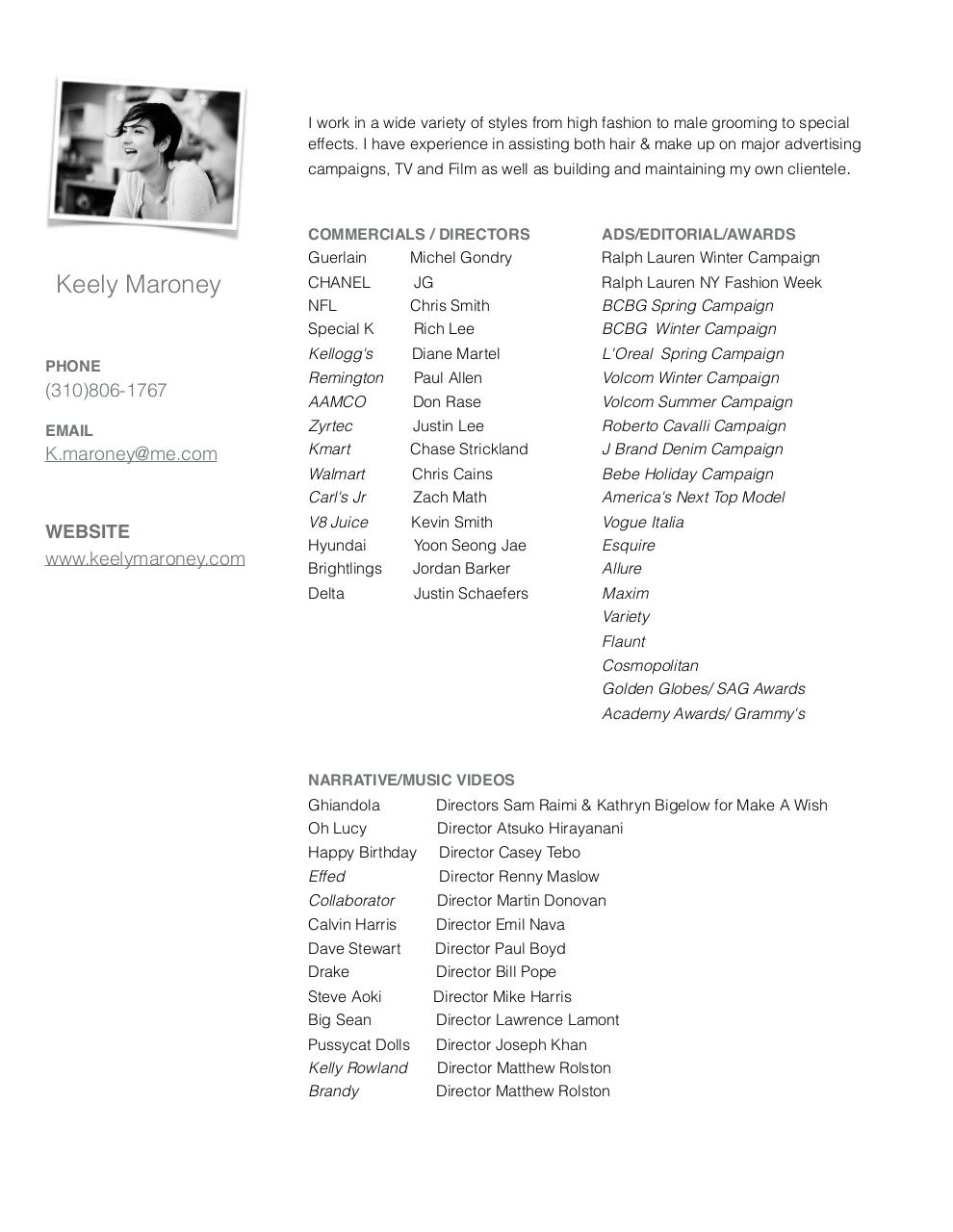 Document preview Keely Maroney CV.pdf - page 1/1
