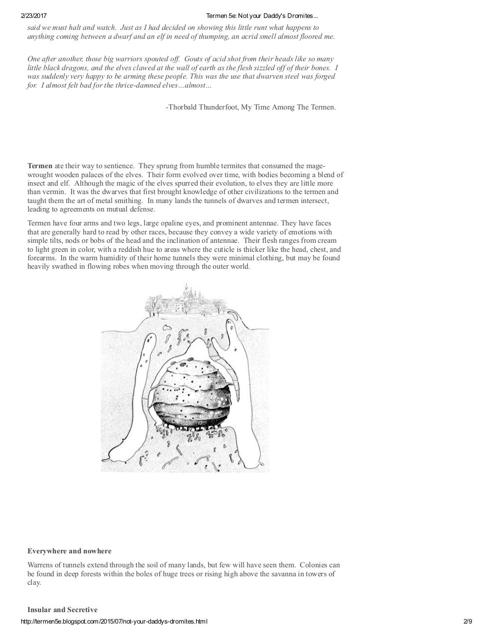 Termen 5e Not your Daddy's Dromites - PDF Archive