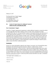 google additional comments usco section 512 study 1