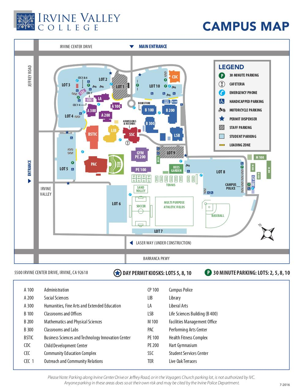 Document preview IVC_2016-17_Campus_Map.pdf - page 1/1