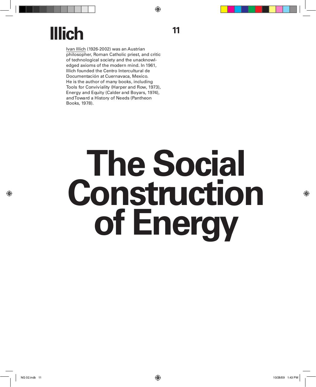 Reading 3 - Illich - The Social Construction of Energy.pdf - page 1/11