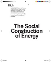 reading 3 illich the social construction of energy