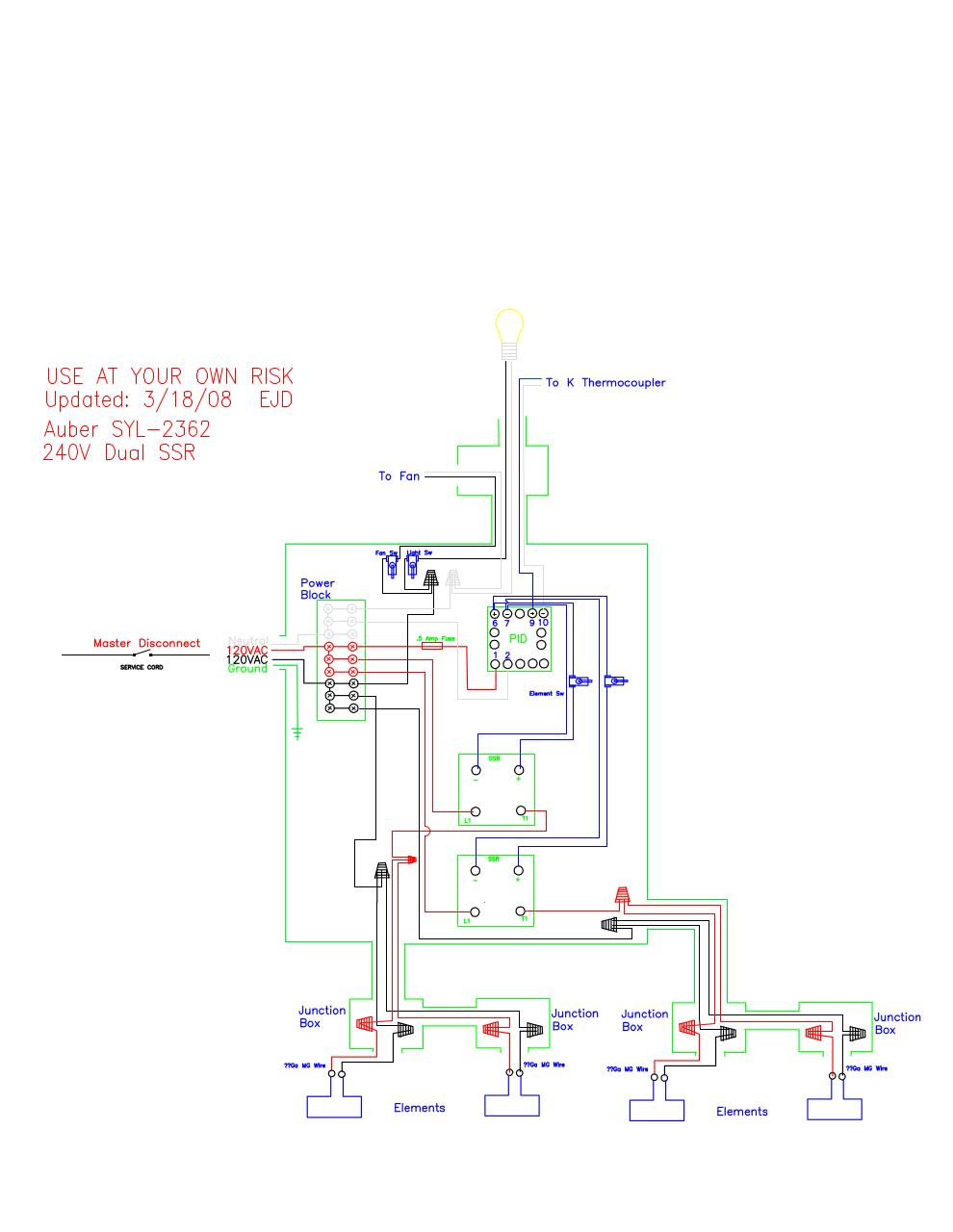 Auber Pid Wiring Diagram Electrical Schematic Diagrams Controller