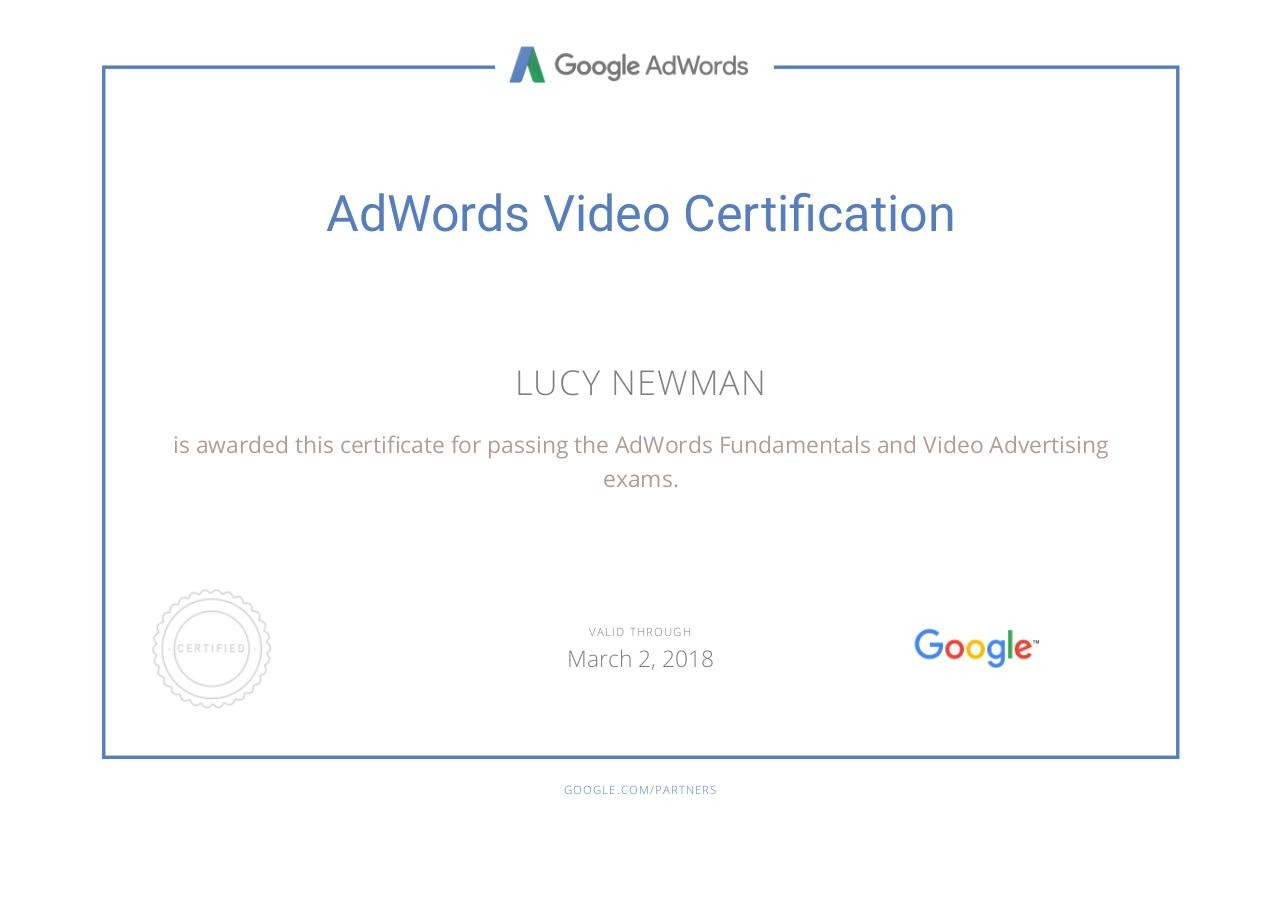 Document preview Google Partners - Certification.pdf - page 1/1