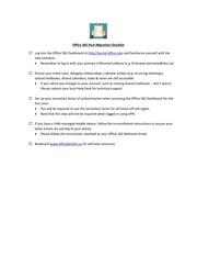 PDF Document office 365 post migration checklist