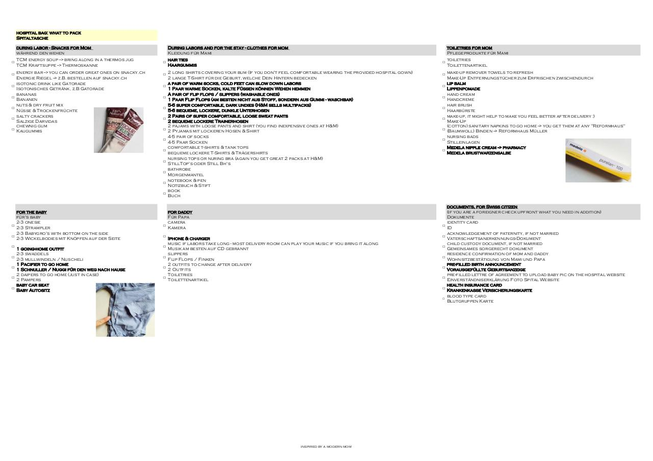 Document preview 170304 hospital bag.pdf - page 1/1