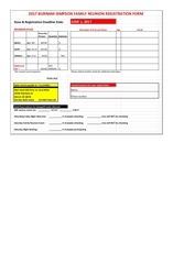 burnam simpson family reunion registration form sheet1 2