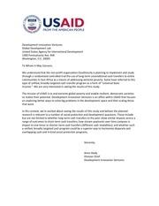div letter of support