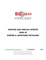 90milesdineindinnerappetizerpackages2017