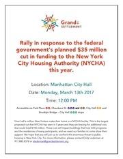 PDF Document funding rally flyer