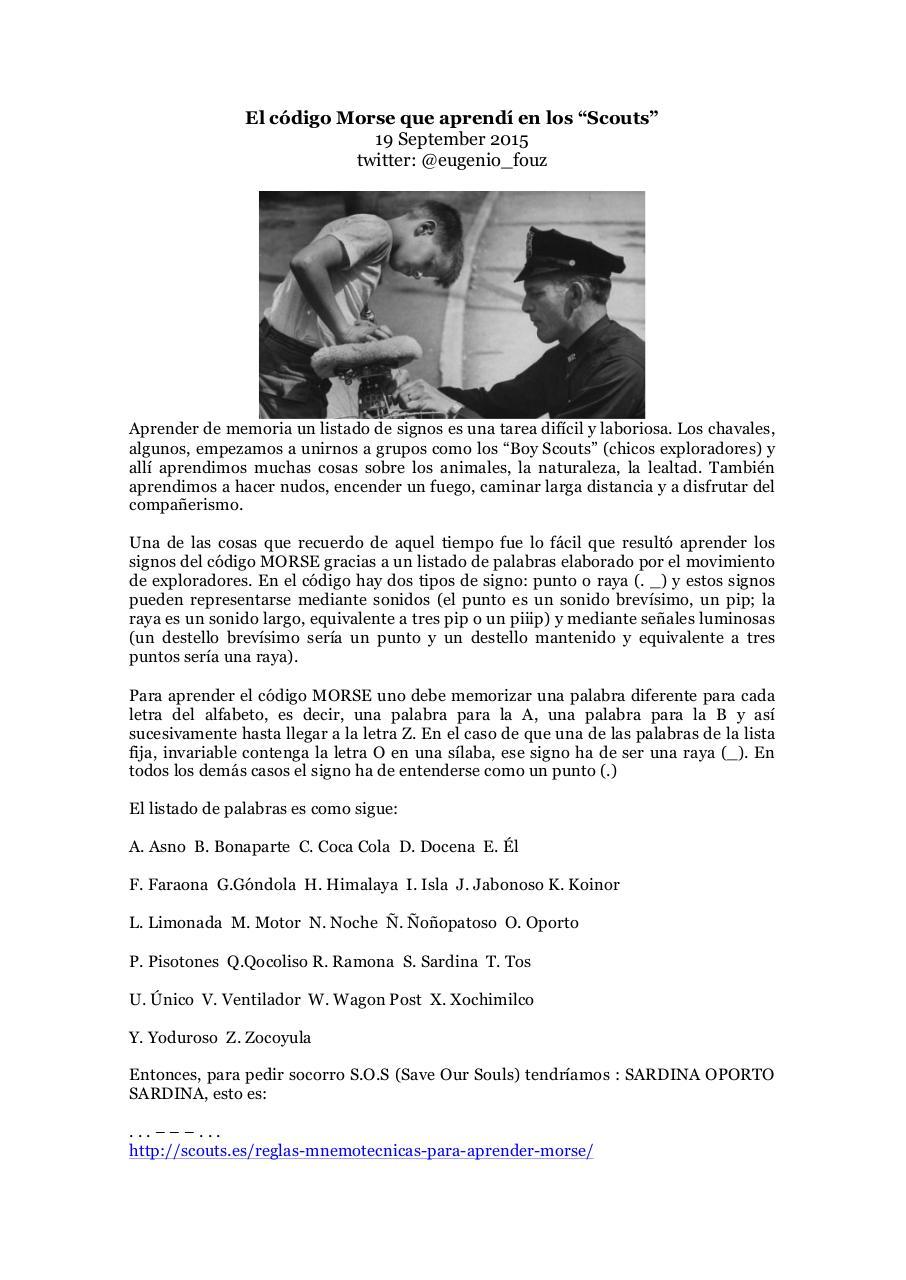Thumbnail for Microsoft Word - El código Morse que aprendí en los.docx (El código Morse que aprendí en los.pdf) - PDF Archive