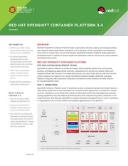 cl openshift container platform datasheet