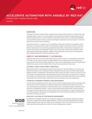 co accelerate automation ansible datasheet