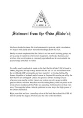 public statement from the o m 2017