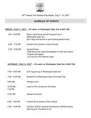2017 schedule of events