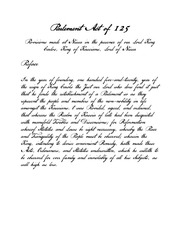 parlement act of 125