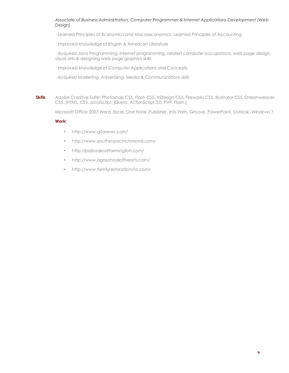 Microsoft Word Herbert Peters Development Design Resume Docx