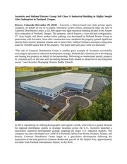 cameron dc sale press release ascentris