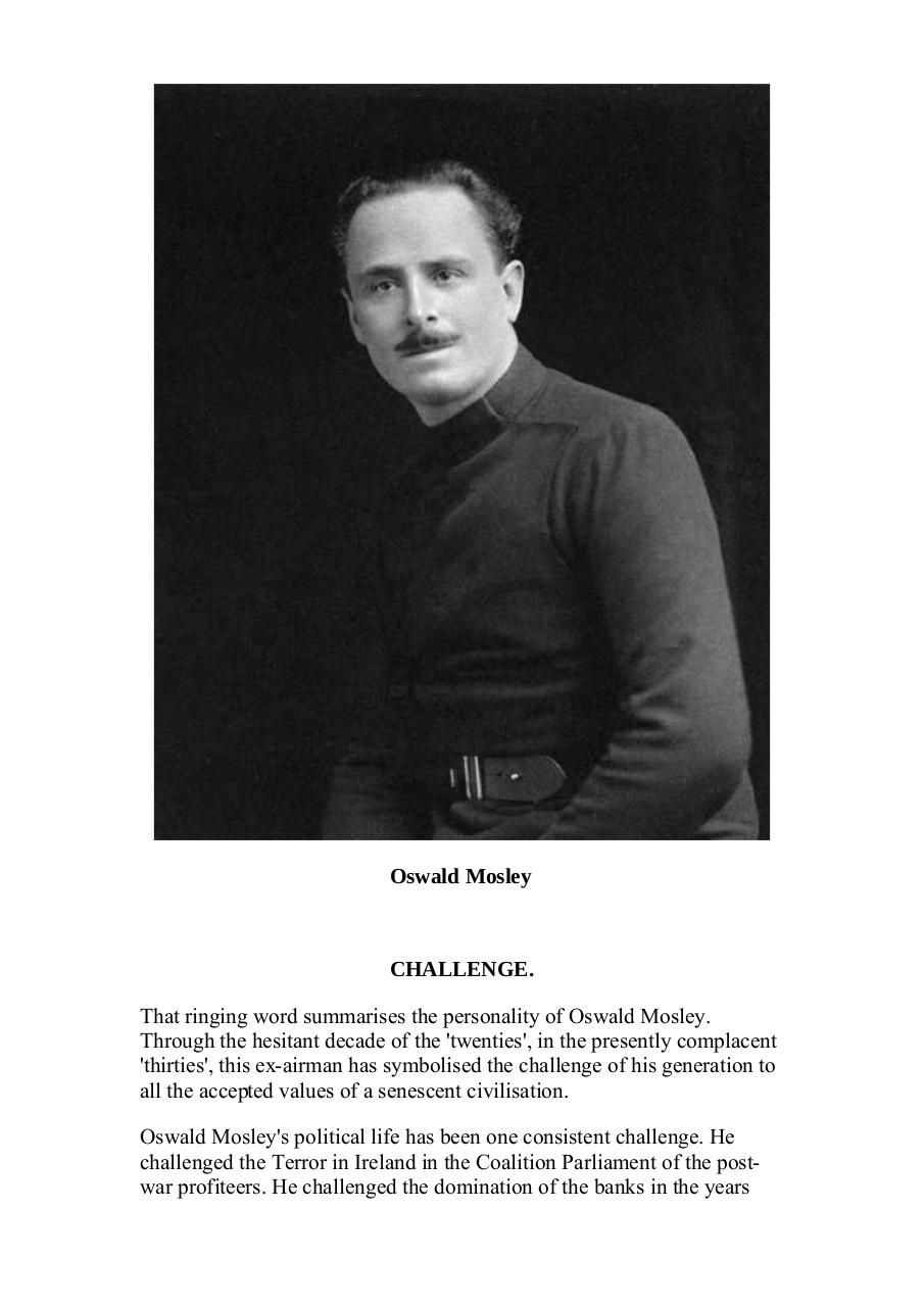 Fascism 100 Questions Asked and Answered by Oswald Mosley
