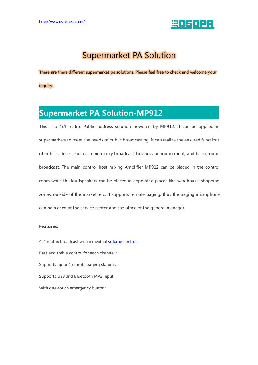 Document preview Supermarket PA Solution.pdf - page 1/5