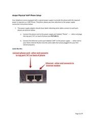 avaya physical voip phone setup