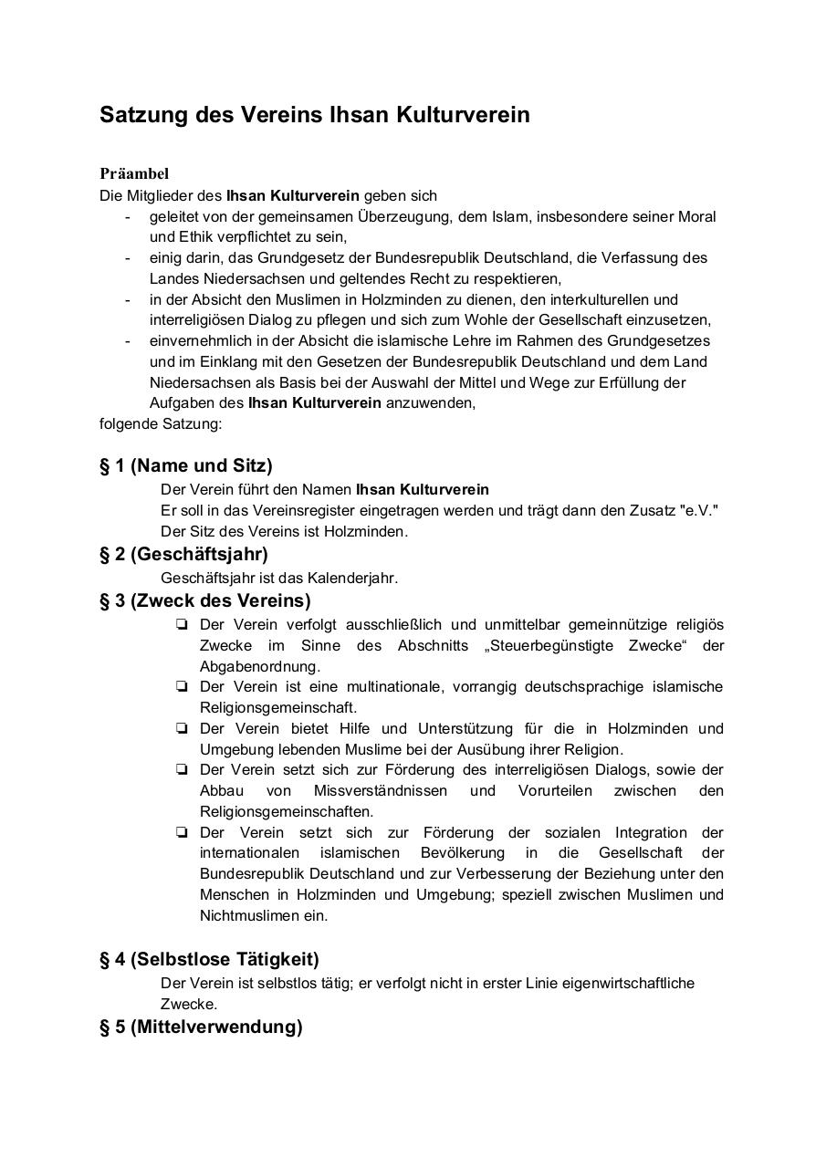 Document preview SatzungdesVereins.pdf - page 1/4