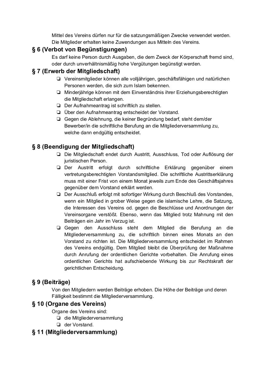 Document preview SatzungdesVereins.pdf - page 2/4