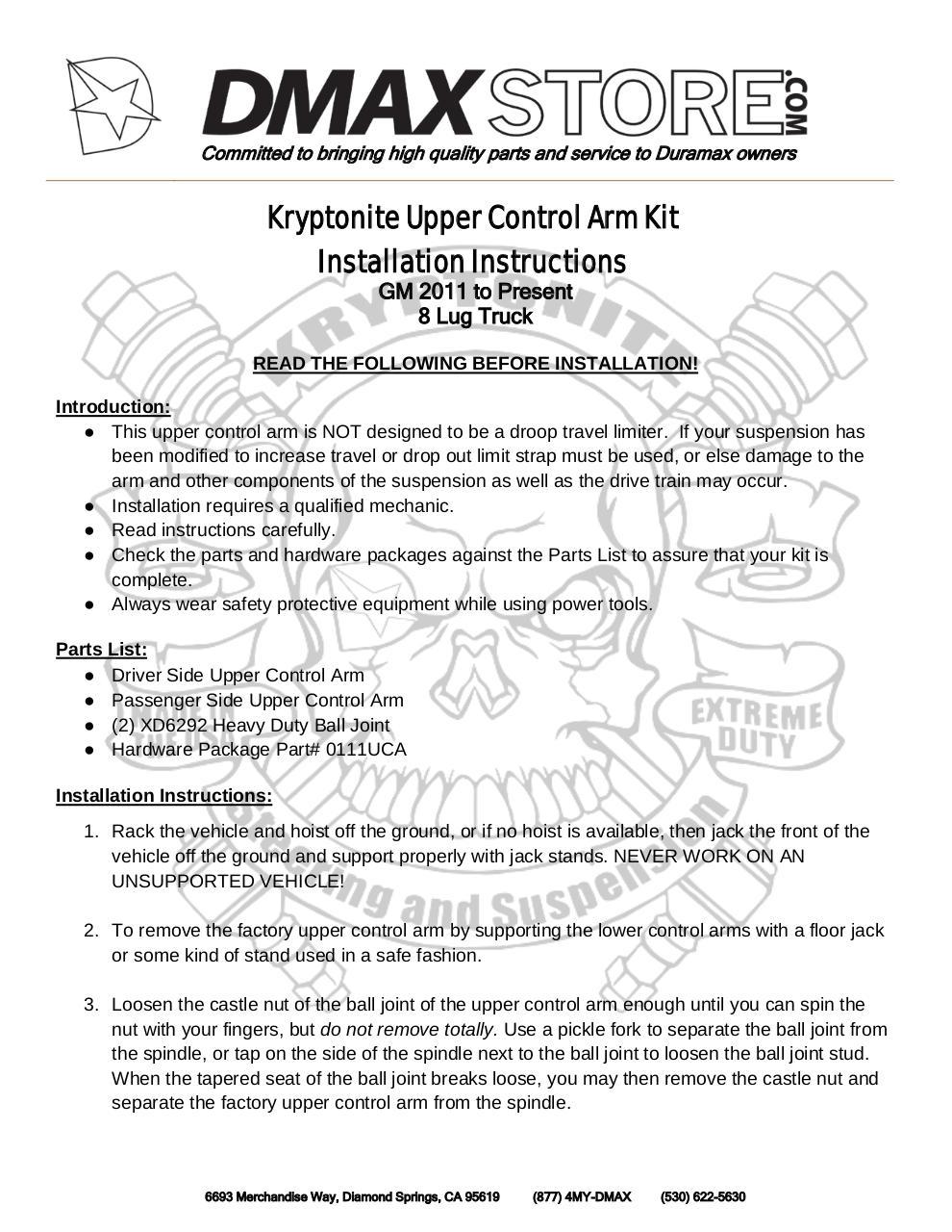 kryptonite UCA LML install insructions by Elizabeth - PDF Archive