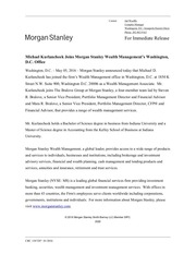 michael kurlancheek joins morgan stanley