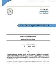 electronique numerique tp1
