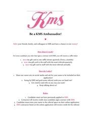 kms ambassador referral program