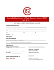 chs 2017 class reunion registration form