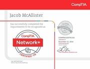 comptia network ce certificate