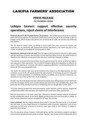 lfa press release 2703